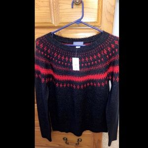 Laura Scott Red and Blue Knitted Sweater